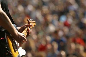 Etiqueta para un concierto de guitarra