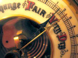 Cómo utilizar un barómetro para un pronóstico del tiempo