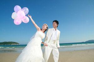 Colores de la boda de playa de verano