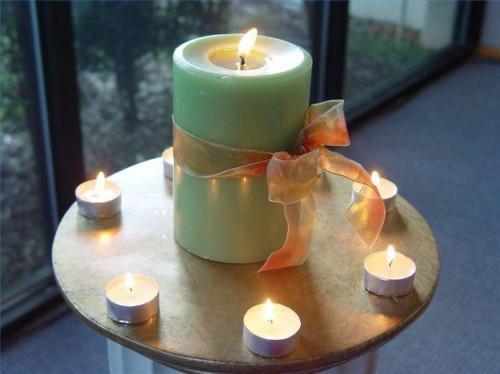 Como decorar una vela de la unidad