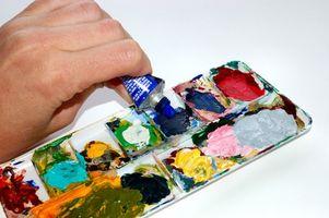 Cómo agregar textura y mezcla con pintura acrílica