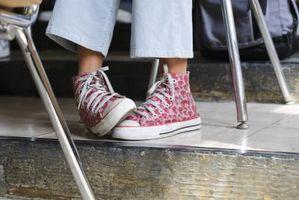 Tamaños del zapato para adolescentes