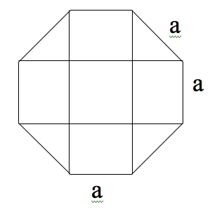 Fórmula para el volumen de un octágono