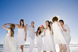 El formato de una lista detallada de la boda