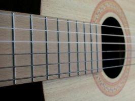 Retiro del Fingerboard de la guitarra