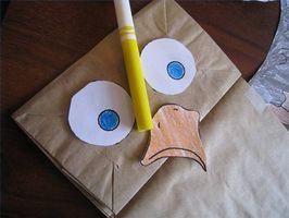 Cómo hacer marionetas de mano grande