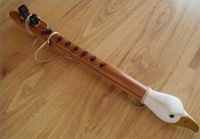 Construcción de una flauta americana nativa
