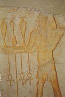 Las características del arte egipcio antiguo