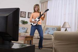 Cómo usar mi guitarra inalámbrica con banda de Rock en la Xbox 360