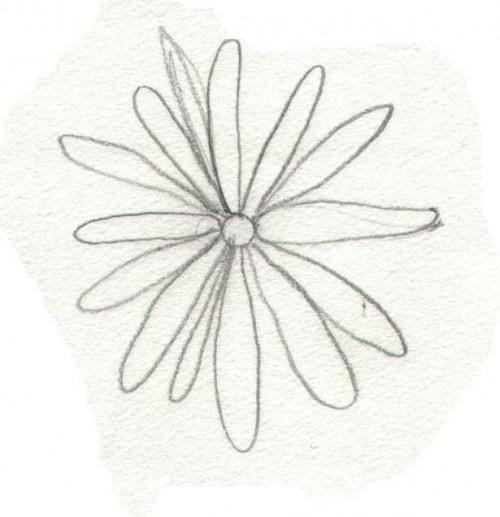 Cómo dibujar una flor Simple