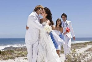 Colores de la boda de playa de otoño