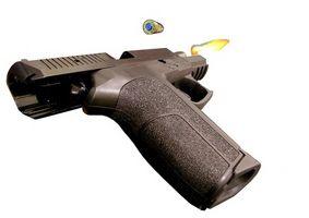 Cómo quitar la mira en un P228