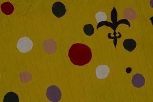 Cómo hacer puntos con pintura acrílica