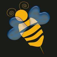 Bumble Bee diseños de pintura de cara para niños