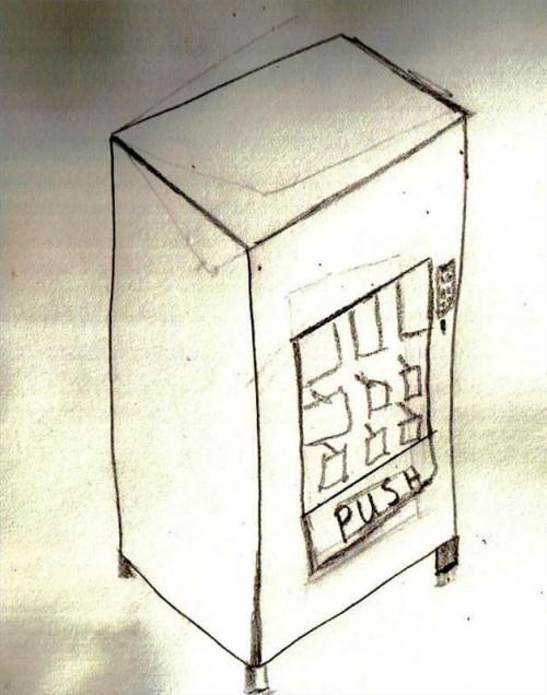 Cómo dibujar una máquina expendedora