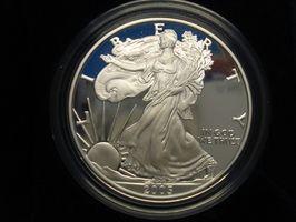 Estados Unidos águila de plata dólar menta marca información
