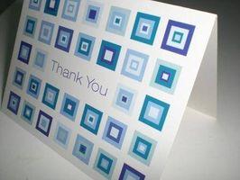 Cómo escribir tarjetas de agradecimiento familia