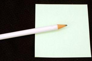 Cómo escribir una consiga bien pronto tarjeta