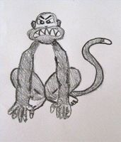Cómo dibujar un mono malvado