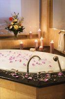 Cómo hacer una romántica bañera