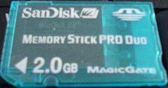 Cómo utilizar un Memory Stick Pro Duo