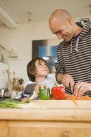Cómo llegar al niño a comer frutas crudas y verduras