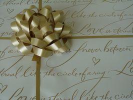 Cantidad típica gastado en regalos de boda