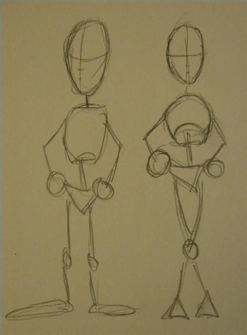 Cómo dibujar personas de animación