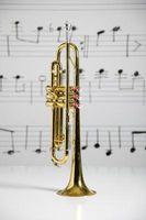 Cómo sujetar el botón de nota en una trompeta