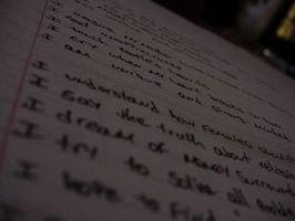 Cómo encontrar palabras que riman para la poesía