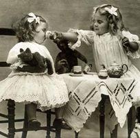 Cómo mostrar los antiguos juegos de té