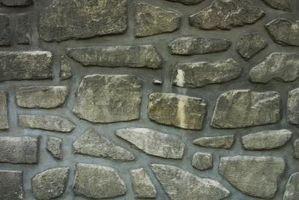 Cómo pintar las paredes de piedra en escenarios