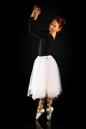 Zapatos de Ballet de lona y cuero
