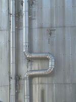 Tubo rotatorio y corte de la pipa