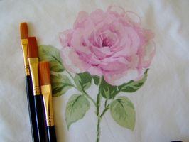 Cómo pintar flores para decoración