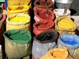 Pigmentos utilizados en las pinturas de acrílico