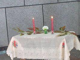 Ideas para decorar una vela de la unidad de Altar