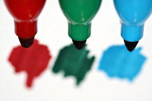 Cómo combinar marcadores lavables de Color incluso