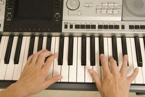 Cómo grabar música en un teclado Casio