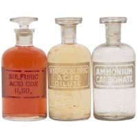 Los tipos de botellas utilizadas para el almacenamiento de ácidos y Bases