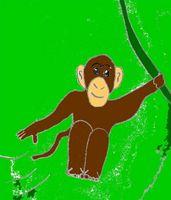 Cómo dibujar un mono de balanceo