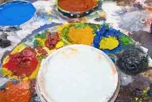 Mezcla de colores de pintura--oscuridad a la luz