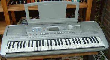 Un teclado Musical de aprendizaje