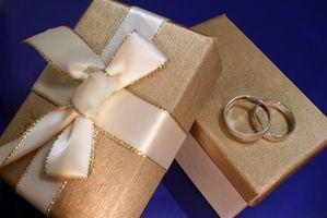 Regalo mesa Ideas para una recepción de boda